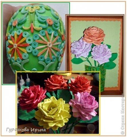 Розы делала в садик для подруги, точнее - дочке её, украшать группу к 8 марта. А яйцо подарила врачу, я с дочкой каждый год лежим в больнице  (в реабелитационом центре).  фото 1