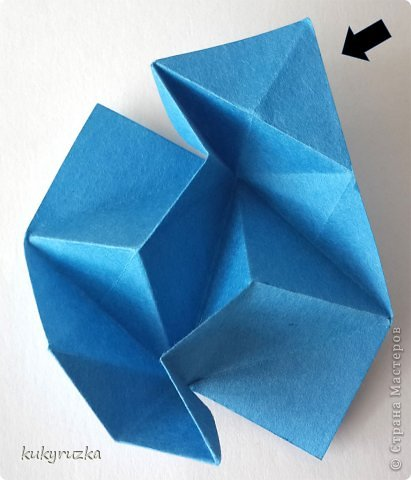 Всем доброго дня!  Разрешите представить кусудаму Clare и МК на нее. Сначала параметры:  Name: Clare Designer: Tatyana Andreychikova Parts: 30 Paper size: 7,5 x 7,5 cm Final height: 13 cm Joint: no glue фото 11