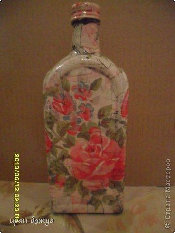 Эти бутылочки и вазу делала в течение 2-х недель,когда было хорошее настроение и позволяло время фото 2