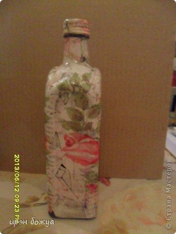 Эти бутылочки и вазу делала в течение 2-х недель,когда было хорошее настроение и позволяло время фото 3
