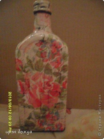 Эти бутылочки и вазу делала в течение 2-х недель,когда было хорошее настроение и позволяло время фото 4