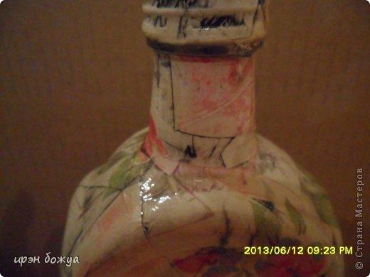 Эти бутылочки и вазу делала в течение 2-х недель,когда было хорошее настроение и позволяло время фото 5