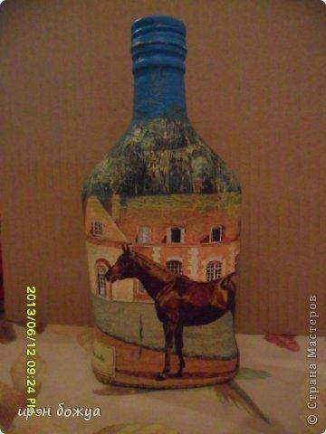 Эти бутылочки и вазу делала в течение 2-х недель,когда было хорошее настроение и позволяло время фото 7