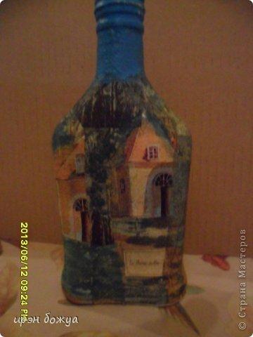 Эти бутылочки и вазу делала в течение 2-х недель,когда было хорошее настроение и позволяло время фото 8