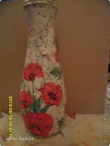 Эти бутылочки и вазу делала в течение 2-х недель,когда было хорошее настроение и позволяло время фото 9