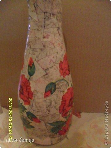 Эти бутылочки и вазу делала в течение 2-х недель,когда было хорошее настроение и позволяло время фото 10