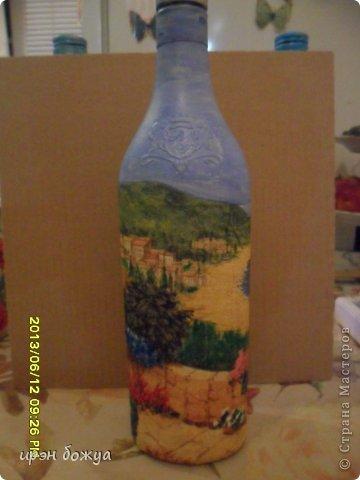 Эти бутылочки и вазу делала в течение 2-х недель,когда было хорошее настроение и позволяло время фото 16