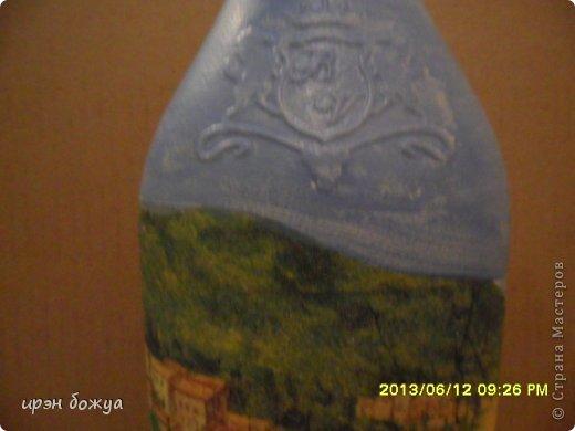 Эти бутылочки и вазу делала в течение 2-х недель,когда было хорошее настроение и позволяло время фото 17