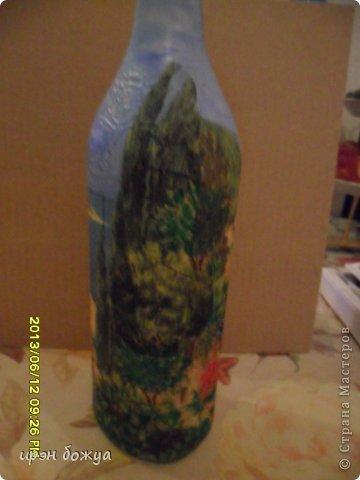 Эти бутылочки и вазу делала в течение 2-х недель,когда было хорошее настроение и позволяло время фото 18