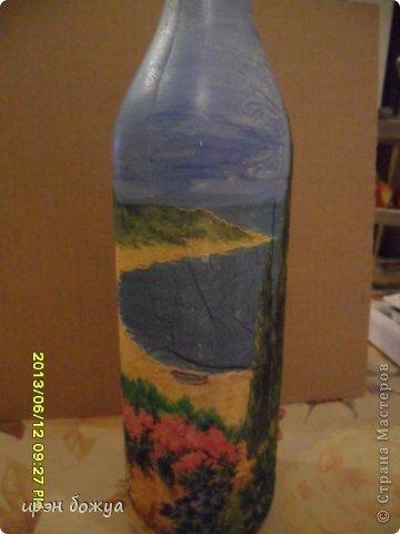 Эти бутылочки и вазу делала в течение 2-х недель,когда было хорошее настроение и позволяло время фото 19