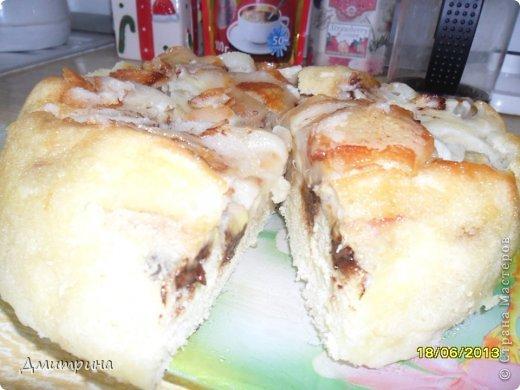 Вот такой вкусный пирог можно приготовить за час, 15 мин подготовка и 45 мин выпечка в мультиварке. Нежный пышный воздушный бисквит без соды и дрожжей! фото 12