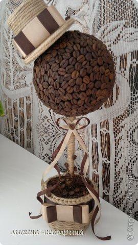 Ну вот и я решилась сделать кофейное деревце) судите) фото 1