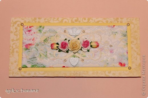 Сделала к книге пожеланий подушечку для колец и конверт для денег фото 2