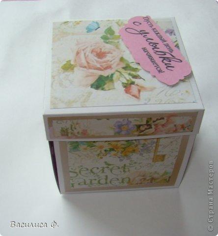 Начну по порядку! сделалась такая вот коробочка для подарка! фото 1