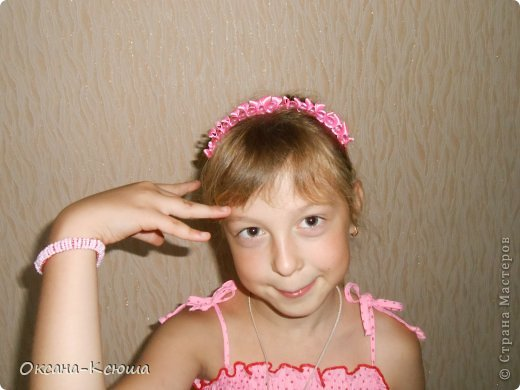 моя красотка демонстрирует свой браслетик)))))) Спасибо всем, кто заглянул! Надеемся, что наш МК кому-нибуь пригодился. фото 1