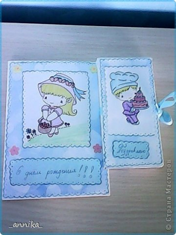 Вот какие открытка и шоколадница у меня недавно сделались!!! Наверное, на каникулах буду делать запас открыток на целый год:) фото 1