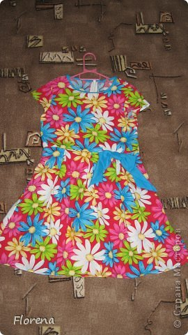 Платье из х/б ткани-штапеля. фото 3