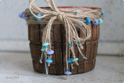 Горшочек можно использовать для посадки любого цветка, мне был нужен для орхи. А если сделать вкладыш может получиться и карандашница ) В общем фантазируйте!!! фото 1