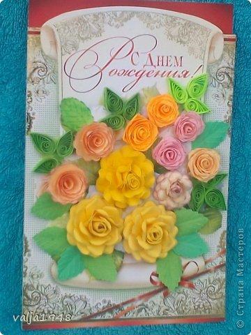 Здравствуйте  дорогие  жители   Любимой  Страны!!!Лето,  кругом  всё  цветёт,  цветут  и розы  в садах, парках, на  дачах,  но   и  не  только!!!  У  меня  они  зацвели  на  открытках!!!Предлагаю  вашему  вниманию  мои  творения!!!  Они  настолько  завладели  мной,  никак  не  могу  оторваться  от  их  изготовления!!!  Что  получилось   судить  вам, а  я  буду  рада  каждому  вашему  слову!  Вот  первые  две    с разными  сортами, т. е. по раным  МК!!!  фото 6