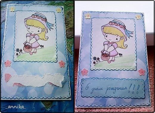 Вот какие открытка и шоколадница у меня недавно сделались!!! Наверное, на каникулах буду делать запас открыток на целый год:) фото 2