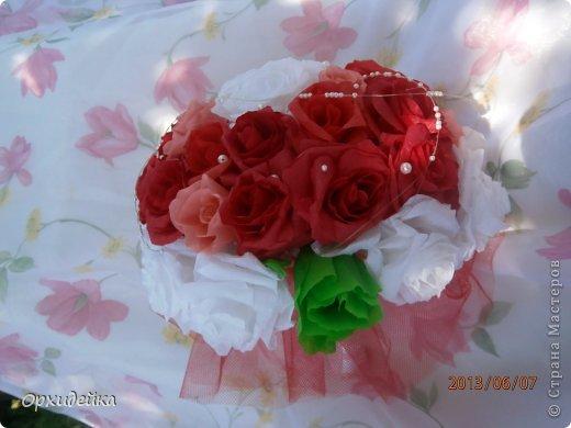 Букетик на свадьбу для очень роковой девушки. Совместная работа с сестрой (https://stranamasterov.ru/user/226999) фото 6