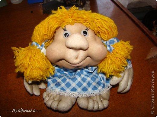 Как-то увидела видео мастер-класс Елены Лаврентьевой по изготовлению куклы из капрона и очень захотелось попробовать. Вот что у меня получилось! фото 1