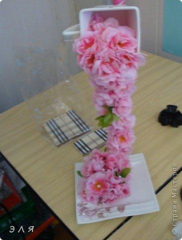 """Парящая чашка """"Сакура""""(цветы искусственные) фото 3"""