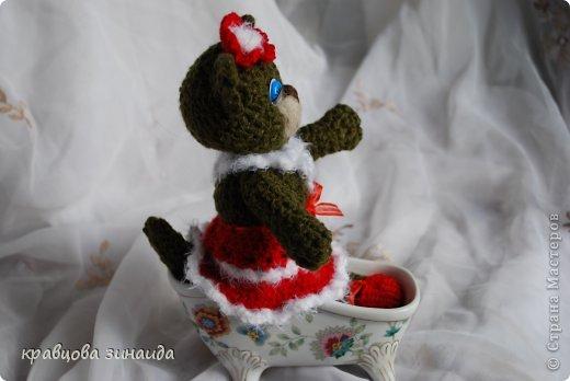 ДОБРЫЙ  ВЕЧЕР   СРАНА  МАСТЕРОВ , показываю  вам  киску,  любовь  к  вязанным  игрушкам  мне  привила  ОЛЬГА  АЛЕКСАНДРОВНА , спасибо  тебе  ОЛЕНЬКА , вот  и  вяжу  потихонечку,  получилась  вот такая  ушастая  ЛАПУШКА. фото 6