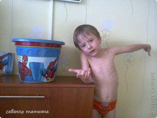 """Сынуля заказал себе в комнату цветок в горшке """"Человек паук"""". давно собиралась сделать. фото 6"""