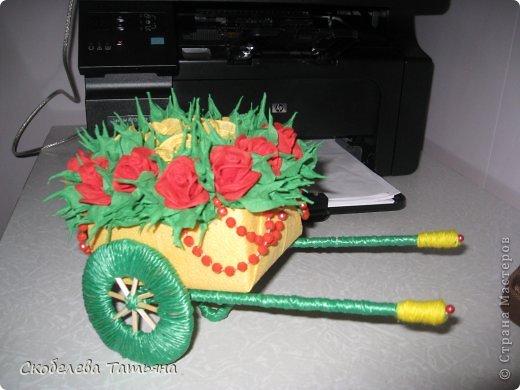 тележка с розами фото 2