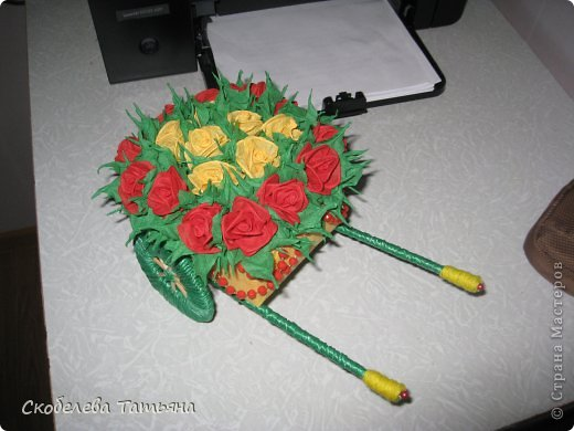 тележка с розами фото 3