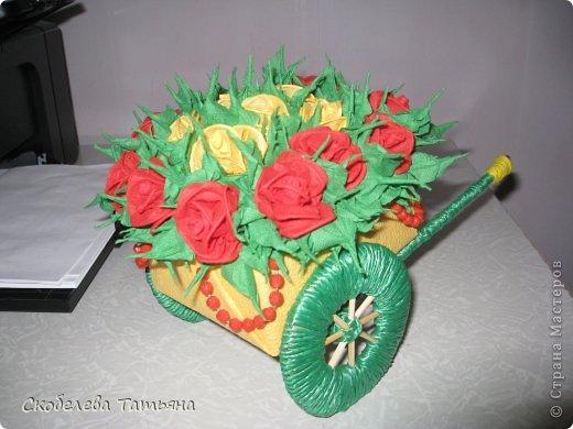 тележка с розами фото 1