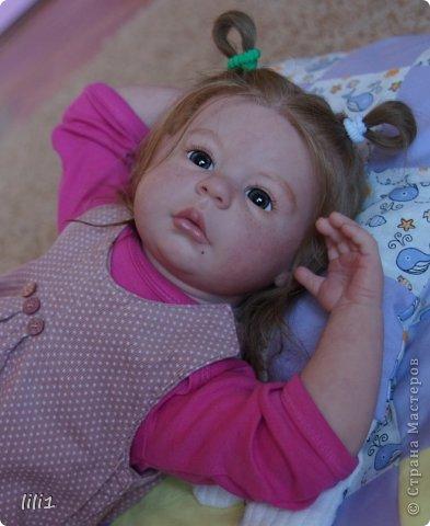Куколка расписана мною специальными красками для реборнинга, волосы натуральные, соска магнитная. фото 8