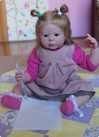 Куколка расписана мною специальными красками для реборнинга, волосы натуральные, соска магнитная. фото 10