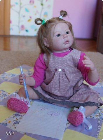 Куколка расписана мною специальными красками для реборнинга, волосы натуральные, соска магнитная. фото 11