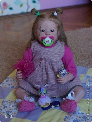 Куколка расписана мною специальными красками для реборнинга, волосы натуральные, соска магнитная. фото 1