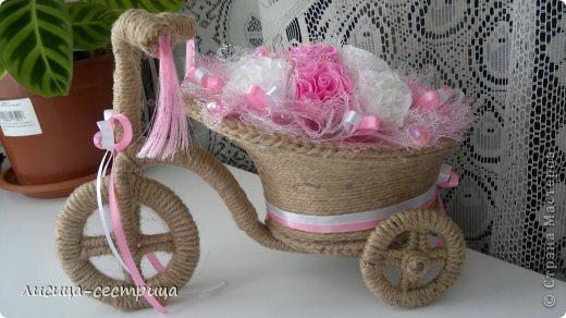 Теперь и у меня есть свой личный транспорт))) Я вдохновилась велосипедом Надежды Ткаченко (https://stranamasterov.ru/node/403989?c=favorite) и решилась сделать свой))) Приглашаю на просмотр))) фото 6