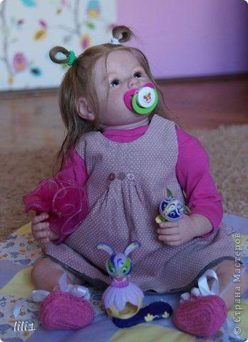 Куколка расписана мною специальными красками для реборнинга, волосы натуральные, соска магнитная. фото 2