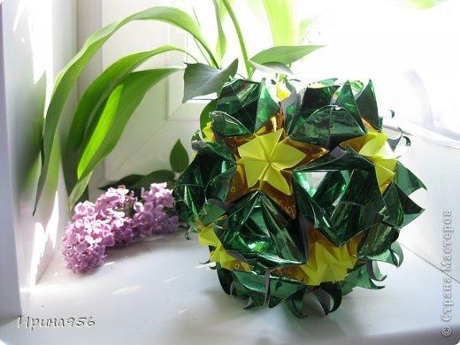 Туториал здесь http://kusudama.info/2011/11/kusudama-sweet-spring Собирала давно, размеров не помню :) фото 3