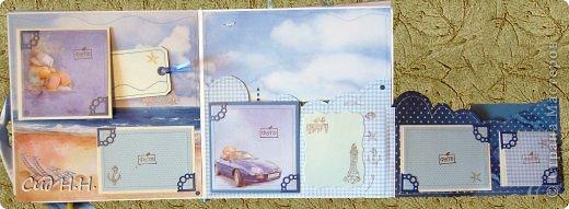 Уфффф, можно выдохнуть)) Наконец-то я сдала свой долгострой - альбом для малыша) Проект такого масштаба в моей творческой жизни был впервые - формат альбома 30 х 30, 30 страниц, рассчитан на 153 фото. Мягкая тканевая обложка, переплет по МК Елены Виноградовой.  Очень переживала, понравится ли заказчице...  фото 35