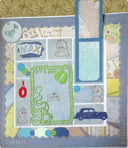 Уфффф, можно выдохнуть)) Наконец-то я сдала свой долгострой - альбом для малыша) Проект такого масштаба в моей творческой жизни был впервые - формат альбома 30 х 30, 30 страниц, рассчитан на 153 фото. Мягкая тканевая обложка, переплет по МК Елены Виноградовой.  Очень переживала, понравится ли заказчице...  фото 45