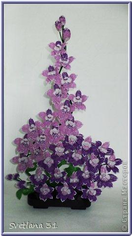 Орхидея Дендробиум сделана на сайте Радуга Рукоделий онлайн -курс, куратор Юлия(Персик) .