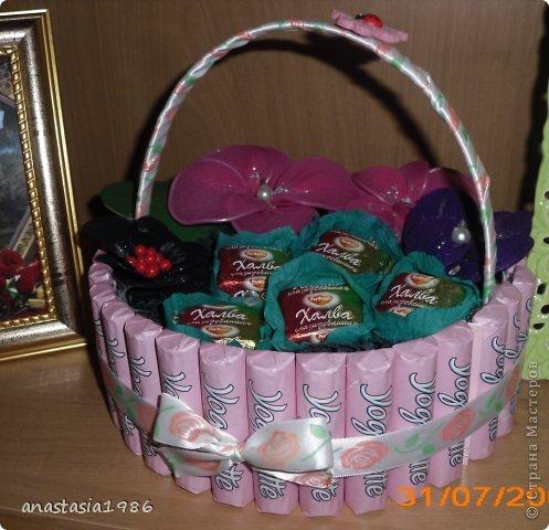 Корзинка из конфет  фото 2