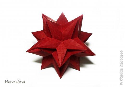 "Эта кусудама была представлена на флешмоб в ЖЖ  ""Кусудамы + цветы"":  Name: Radianta-60 variation & Origami Flowers Designer: Lukasheva Ekaterina (Russia) & Soonboke Smith Folder: Alina Maslova Parts:60+12 Paper's size : 5x5 cm + 14x14 cm Joined with: glue Final height: ~ 9-10cm  Diagram:http://www.kusudama.me/origami/Radianta#rad2  Flowers: Book ""Origami Flowers"" by Soonboke Smith / Книга Санбук Смит ""Цветы Оригами"" фото 9"
