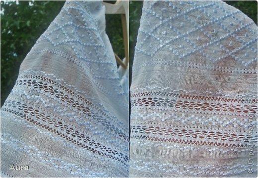 Давно мечтала о такой блузке  и вот, наконец, нашла время и вышила:)) Это традиционная блузка, часть народного костюма. Нет ни одного машинного стежка и ни одного узла:) Ткань - истонченный лён, вышивала нитью DMC B5200 и S5200. фото 4