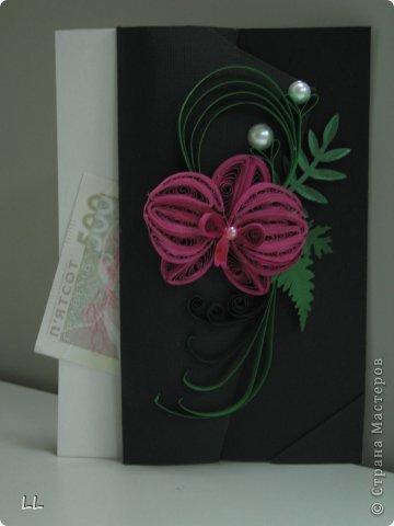 Если присмотреться, то видно, что цветок прикреплён на лацкан пиджака.. Нет у меня бумаги, похожей на ткань :-(( фото 2