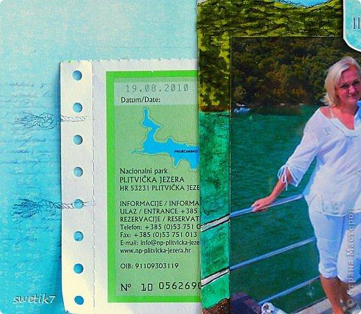 Всем привет!!:) Сегодня я к вам со страничкой о себе любимой, точнее о  своем путешествии в Хорватию в 2010 г., в страну с удивительно красивой природой и чистейшим морем. Эта страничка о том, как мы ездили на Плитвицкие озера - уникальный заповедник, состоящий из системы озер, вода в которых удивительно бирюзово-изумрудного оттенка...Фото, к сожалению, не передает всю насыщенность и красоту этого оттенка(( Ну да ладно...возвращаясь к страничке:)) вот, собственно, и она: фото 3