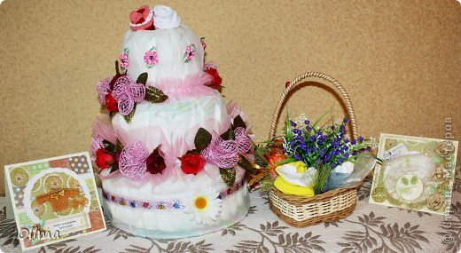 Торт из памперсов фото 4