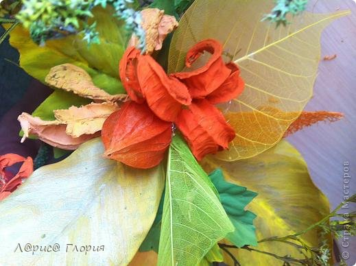 Мастер-класс Флористика Ассамбляж Цветок из плода ириса петушка Материал природный фото 8