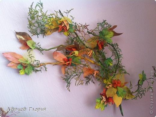 Мастер-класс Флористика Ассамбляж Цветок из плода ириса петушка Материал природный фото 11